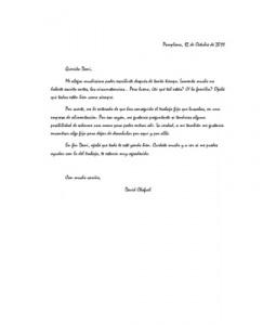 Estilo de tipos de carta informal