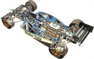 Este auto o dibujo, muestra los cortes realizado para conocer su interior.