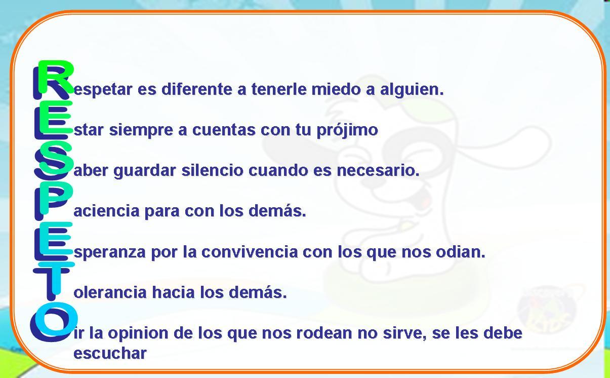 Acrostico Con La Palabra Respeto | apexwallpapers.com