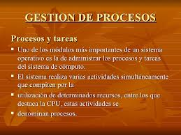 Tipos de procesos, informática