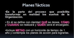 Tipos de planes, tácticos