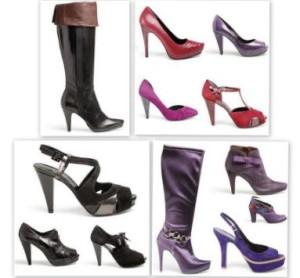 Tipos de zapatos, de mujer