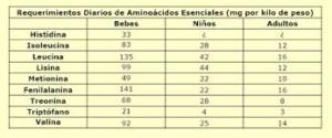 Tipos de aminoácidos, esenciales