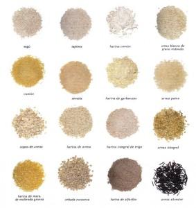 Tipos de cereales, pulidos o pelados