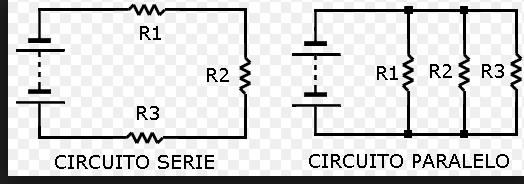 Circuito Electrico En Serie : Tipos de circuitos eléctricos
