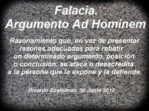 Tipos de falacias Ad hominem-ofensivo