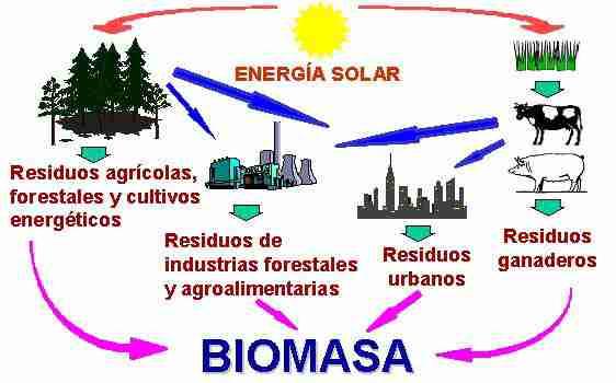Tipos de energía renovable  Tipos De