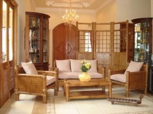 Los tipos de muebles preferidos en las zonas cálidas son de bambú.