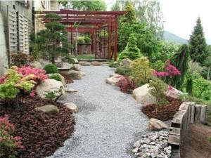 Los tipos de plantas ornamentales se pueden ocupar en el diseño de un jardín estilo japones.