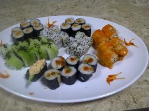 Tipos de sushi, presentación