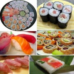 Tipos de sushi, variedades