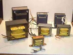 Tipos de transformadores, composición