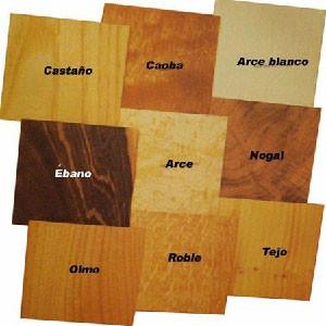 Tipos de maderas, características