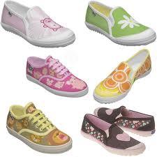 Tipos de zapatos, de niños