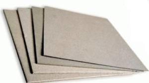 Tipos de cartón, gris