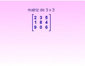 Tipos de matrices cuadrada