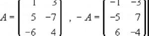 Tipos de matrices diagonal